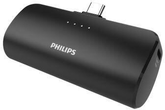 Uzlādēšanas ierīce – akumulators (Power bank) Philips, 2500 mAh, melna