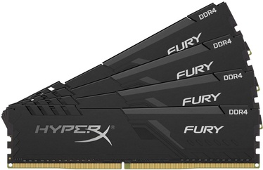 Kingston HyperX Fury Black 64GB 2666MHz CL16 DDR4 KIT OF 4 HX426C16FB3K4/64