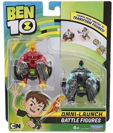 Playmates Toys Ben 10 Omni-Launch Battle Figures Refill Heatblast & XLR8 76636