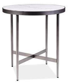 Kafijas galdiņš Signal Meble Dolores C White Marble/Grey, 500x500x550 mm