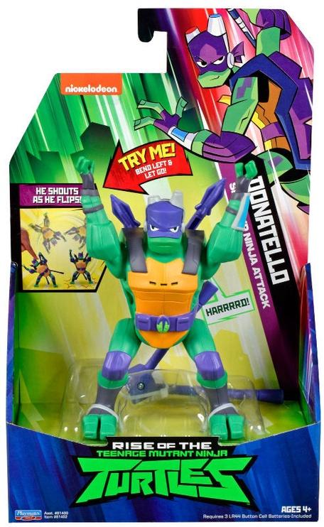 Фигурка-игрушка Playmates Toys Teenage Mutant Ninja Turtles Donatello SideFlip Ninja Attack 81402