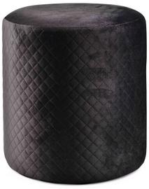 Pufas Mondex Charles, juodas, 37x39x39 cm