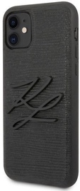 Karl Lagerfeld Lizard Back Case For Apple iPhone 11 Black