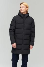 Audimas Puffer Down Mens Coat Black 200/XL