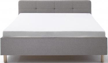Кровать Meise Möbel Amelie Wooden Oak Base Light Gray, 200x140 см