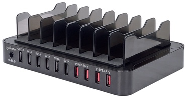 Manhattan 10x USB Charger Black
