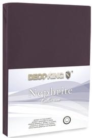 Palags DecoKing Nephrite, brūna, 200x200 cm, ar gumiju