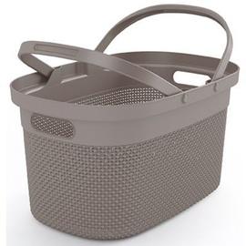 KIS Filo Shopping Basket 45.5x30x24cm Taupe