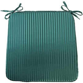 Home4you Chair Pad Silk Stripe 39x39cm Green