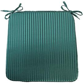 Home4you Chair Pad Silk Stripe 39x39cm Green