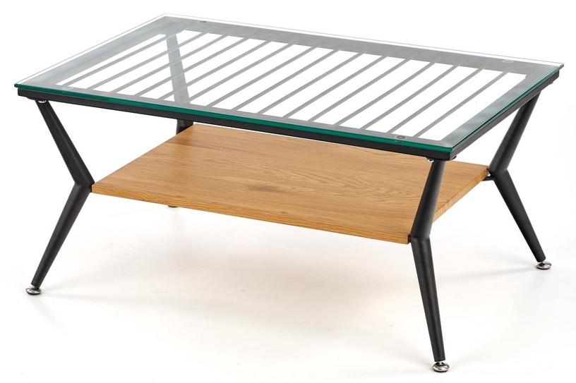 Kafijas galdiņš Halmar Felina, melna/ozola, 800x380x520 mm