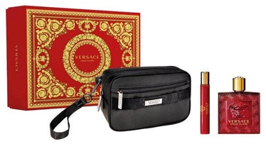 Rinkinys vyrams Versace Eros Flame 3pcs Set 110 ml EDP