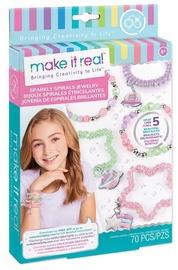 Make It Real Sparkly Spiral Bracelets