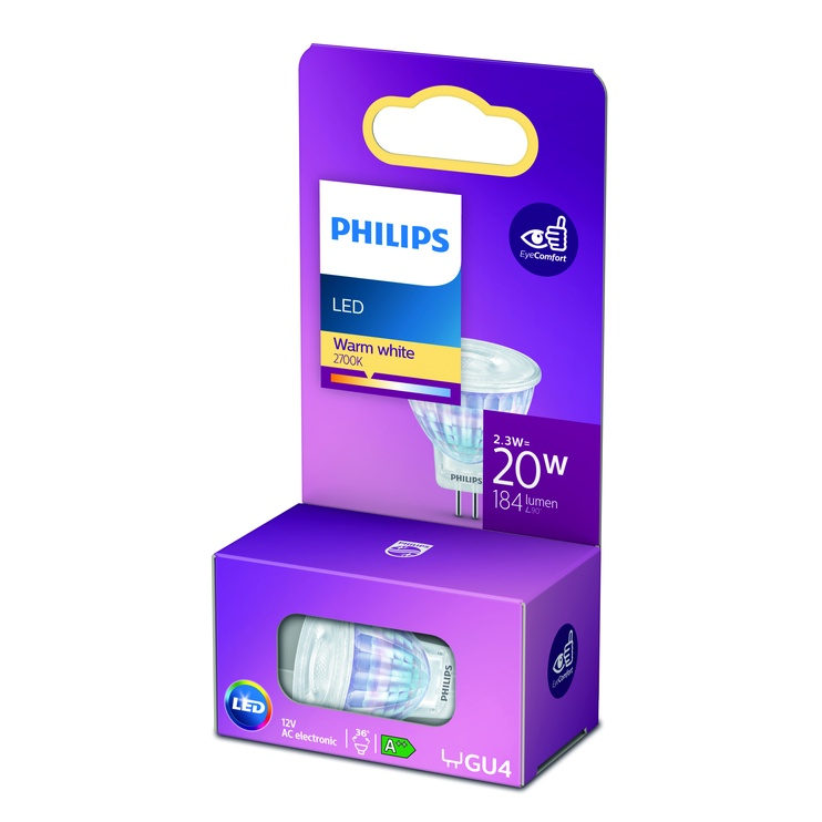 Spuldze Philips 929002066455, led, GU4, 2.3 W, 200 lm, silti balta