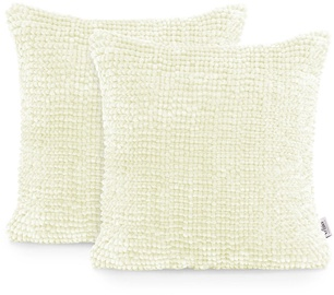 AmeliaHome Bati Pillowcase 45x45 White 2pcs