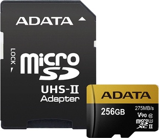A-Data 256GB Premier One microSDXC Class 10 UHS-II U3 + Adapter