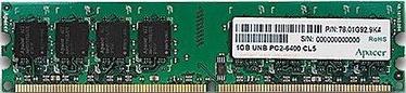 Apacer 1GB 800MHz DDR2 CL6 AU01GE800C6NBGC