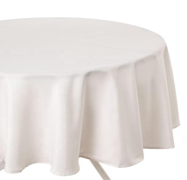 Staltiesė, apvali, kreminė, 180 cm