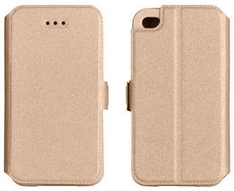 Telone Shine Book Case For LG K10 K420N Gold