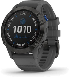 Умные часы Garmin Fenix 6 Pro Solar Black / Slate Gray Band