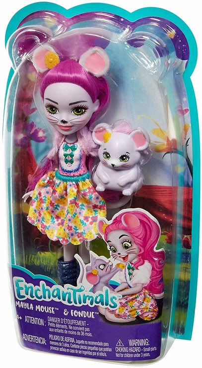 Кукла Mattel Enchantimals Mayla Mouse FXM76