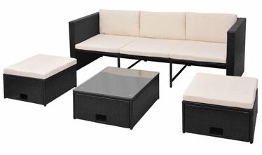 Комплект уличной мебели VLX 4 Piece 43104, черный, 5 места