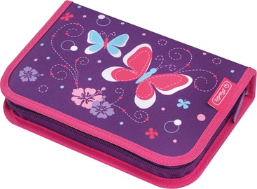 Pencil Case 31 Pieces Purple Butterfly