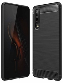 Hurtel Carbon Back Case For Huawei P30 Black
