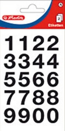 Herlitz Number Stickers 18x20mm Black