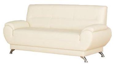 Bodzio Livonia Sofa 3 Eco Leather Cream