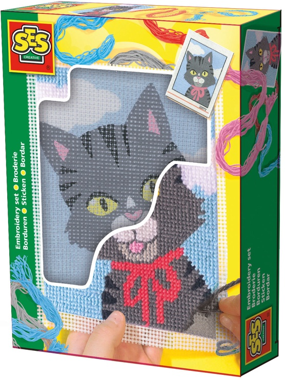 SES Creative Children's Embroidery Cat 00865