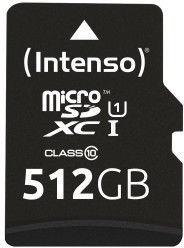 Intenso Premium 512GB microSDXC UHS-I Class 10 + SD Adapter