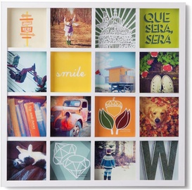 Umbra Grid Art Display Photo Frame White