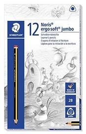 Grafīta zīmulis Staedtler Noris Ergosoft 153 Jumbo, 2B, 12 gab.