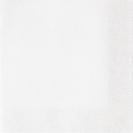 Susy Card Party Napkins White 33 x 33cm