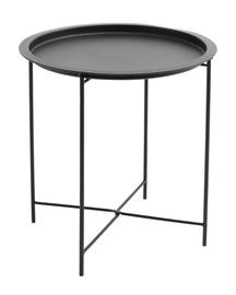 Kafijas galdiņš JYSK Randerup D47, melna, 470x470x510 mm
