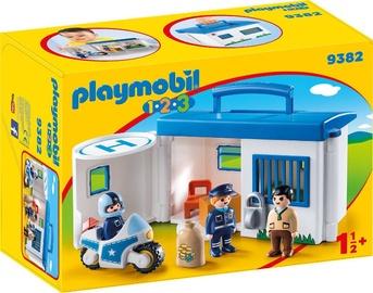 Playmobil 1-2-3 Take Along Police Station 9382