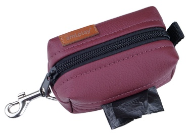 Amiplay Lincoln Waste Bags Dispenser Burgundy 9x5x4cm