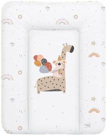 Пеленальный матрас Ceba Baby Small Giraffe Soft, 70x50 см, белый