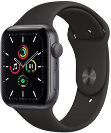 Apple Watch SE GPS 44mm Space Gray Aluminum Black Sport Band