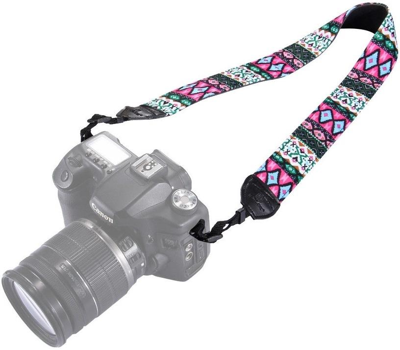 Fotocom Vintage Coloured Camera Strap Pink