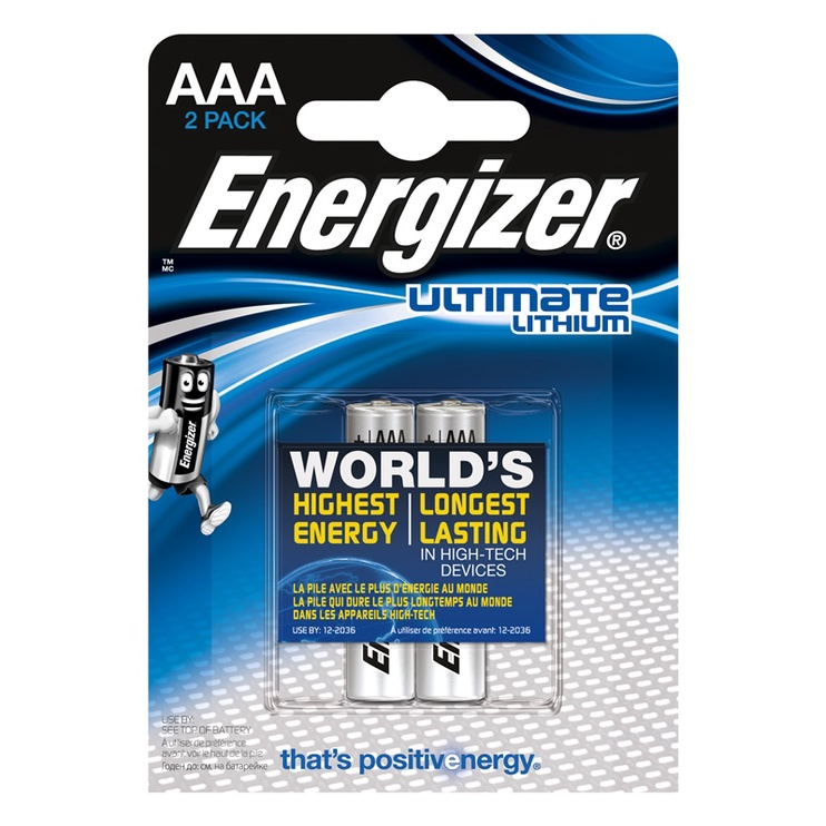 ENERGIZER ULTIMATE LITHIUM AAA X2