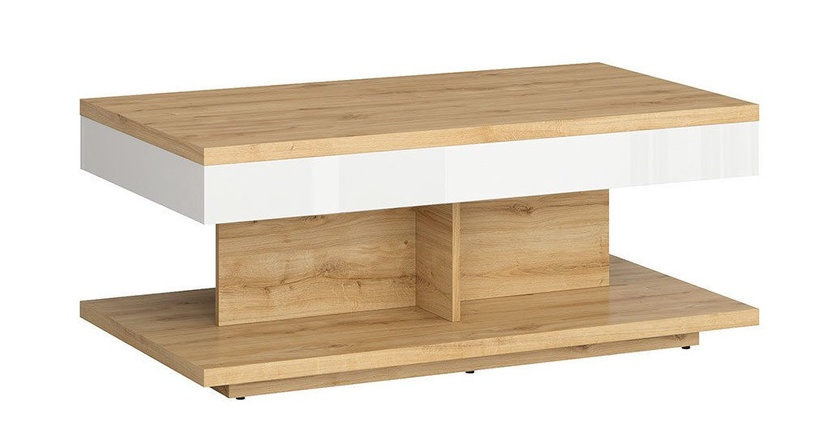 Kavos staliukas Black Red White Erla White/Oak, 1100x600x455 mm