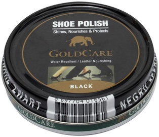 GoldCare Shoe Cream With Wax In Metal Pack Black