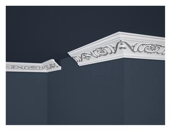 Lubų apdailos juostelių komplektas B6, sidabrinė, 200 x 5.6 cm