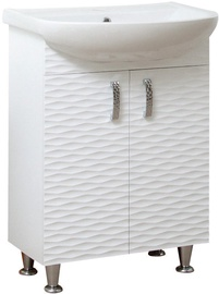 Sanservis 3D-70 Cabinet with Basin Nati-70 White 70x80x46cm