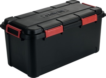 Curver Outback Box With Lid 80l Black Red