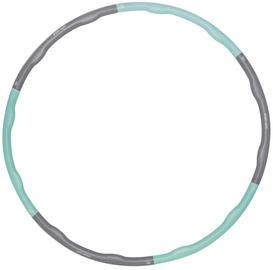 Гимнастический обруч SportVida Foldable Hula Hoop, 1000 мм, 1.2 кг, серый/голубой
