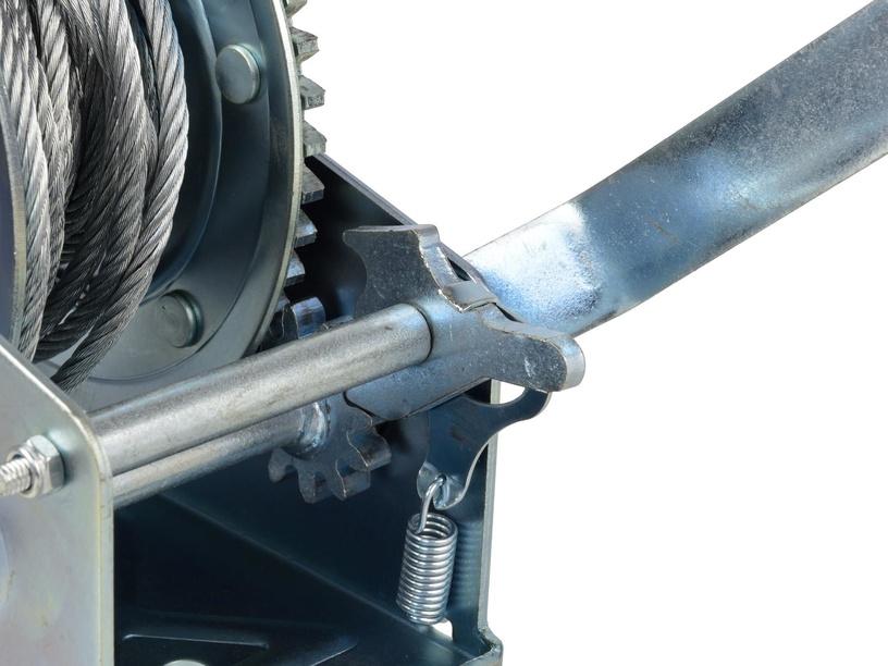 Geko Hand Winch w/ Wire Rope 850kg 10m