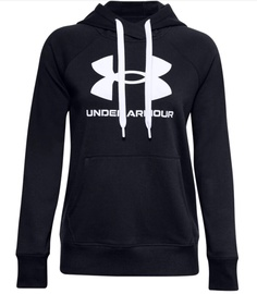 Under Armour Women's Rival Fleece Logo Hoodie 1356318 001 Black M